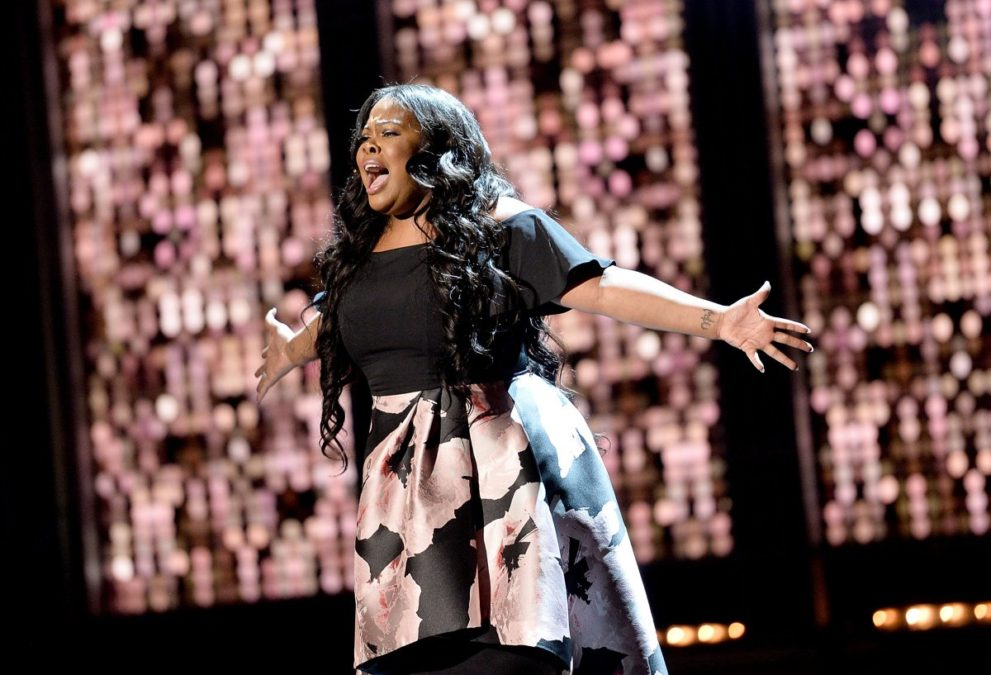 Amber Riley - Olivier Awards - Jeff Spicer/Getty Images - 4/17