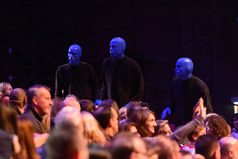 New Connections Between Blue Man Group and the Audience Photo Credit Daniel Boczarski 2 copy[1]
