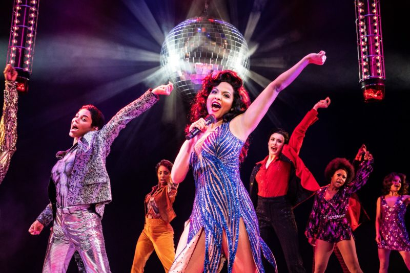 Alex Hairston (Disco Donna) and the Company of SUMMER © Matthew Murphy for MurphyMade